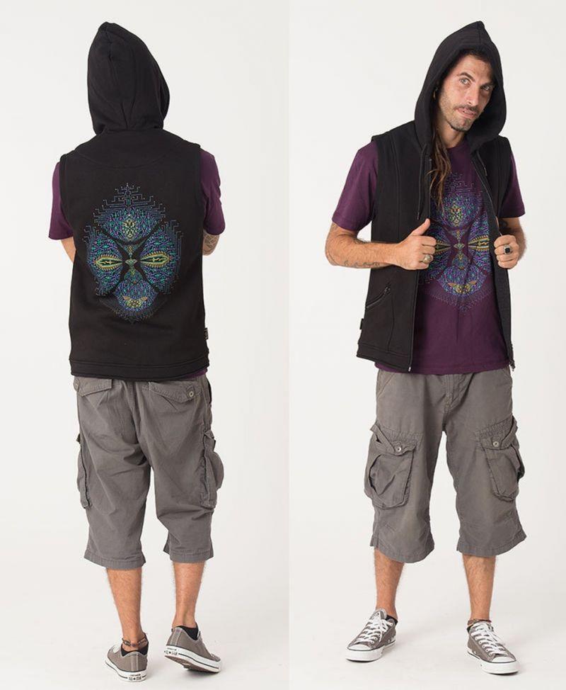 Sikuli Hooded Vest ➟ Black