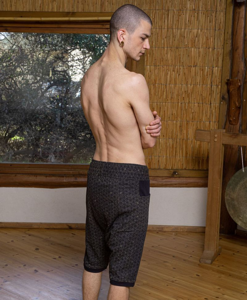 bee hive print mens shorts yoga cotton pants