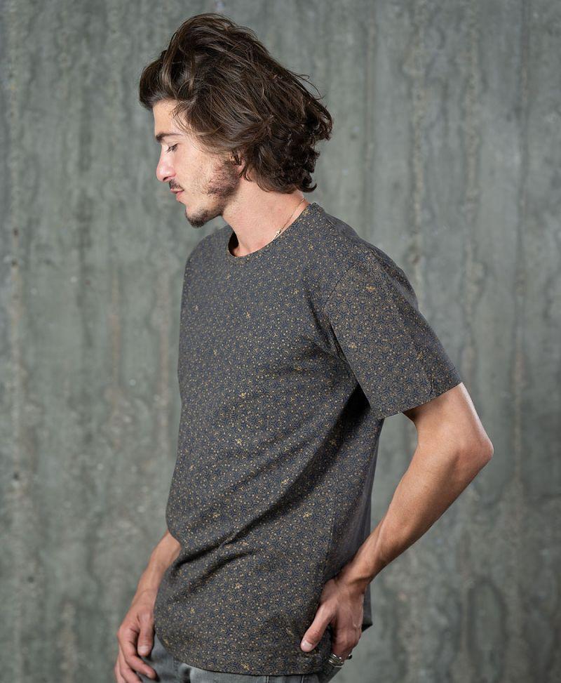 bee t shirt for men full print beehive grey