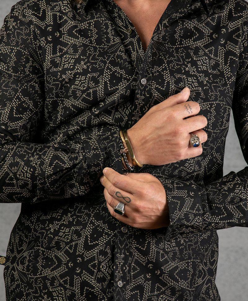 Mexi Long Button Shirt ➟ Black