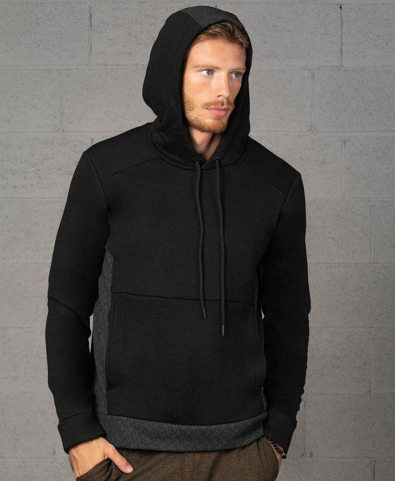 black pullover hoodie sweatshirt atom Celtic print