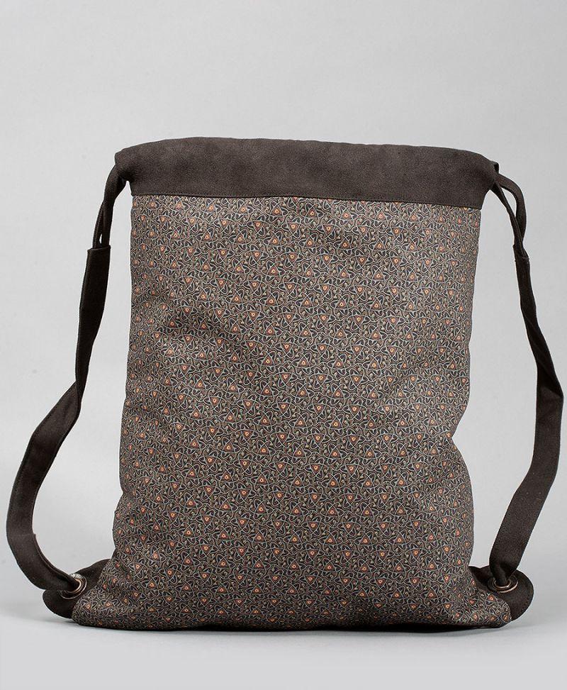 canvas drawstring backpack sack bag tribal print