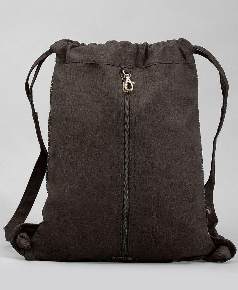 atom molecule drawstring backpack Celtic print