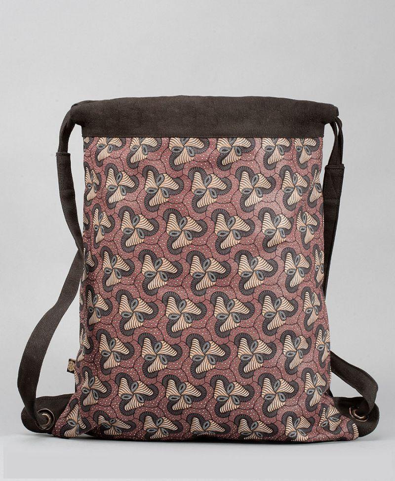 trippy drawstring backpack with magic mushroom print