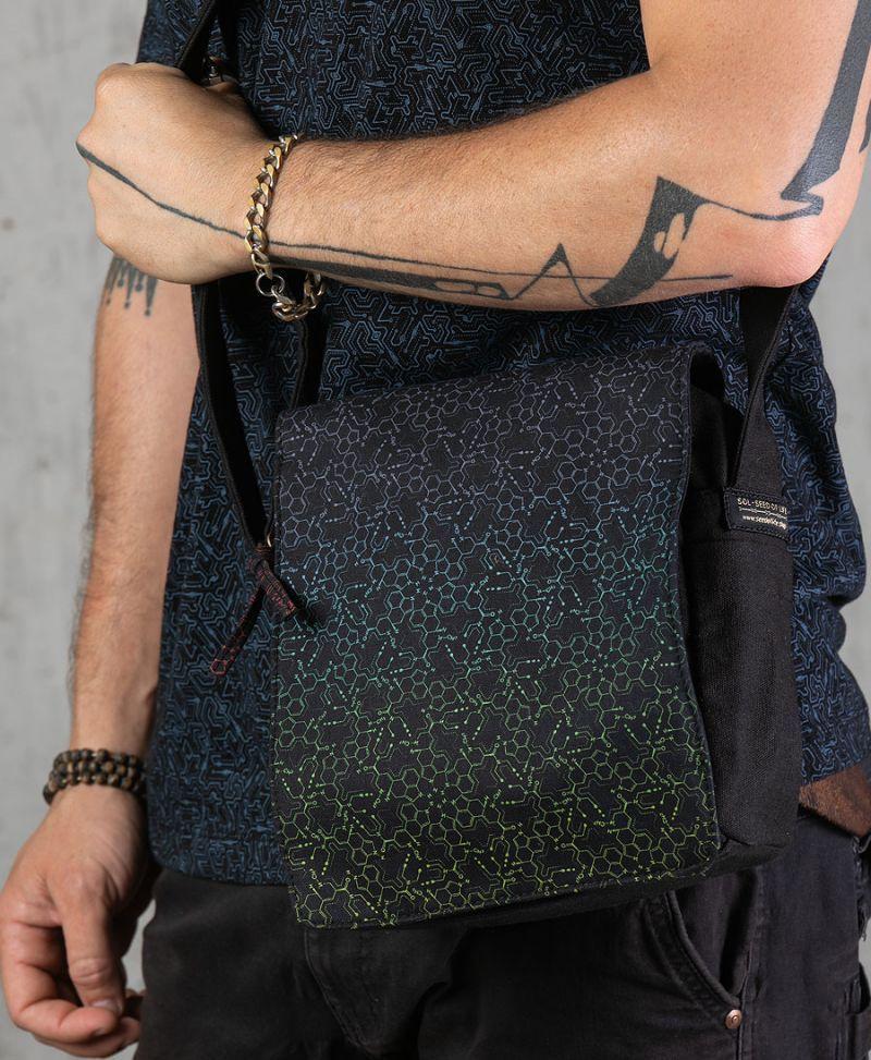 lsd psychedelic bag for men vegan canvas purse bag