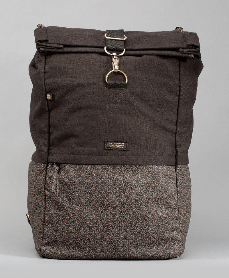 extra large roll top backpack laptop bag celtic print