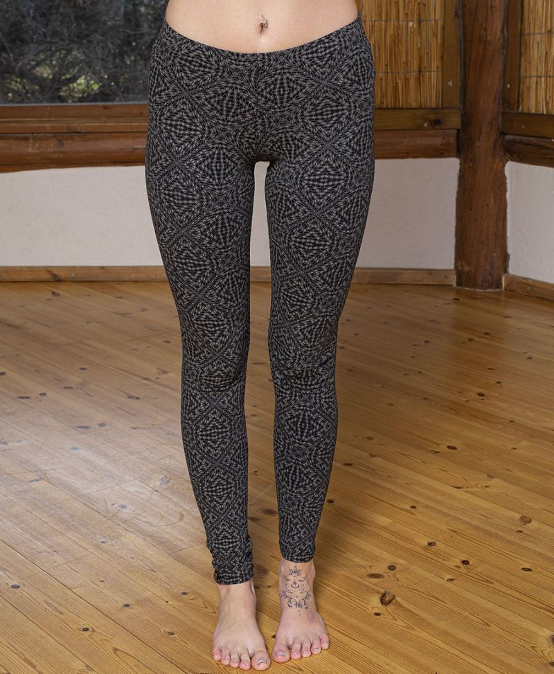 psychedelic women leggings long cotton yoga tights