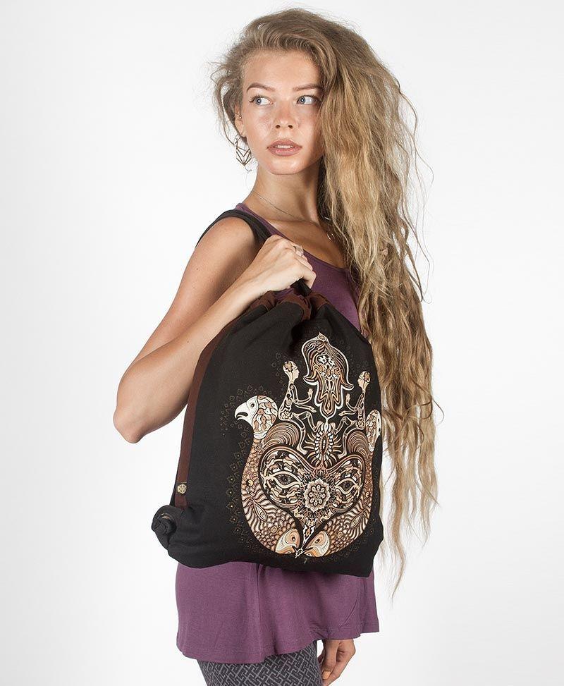 hamsa drawstring backpack