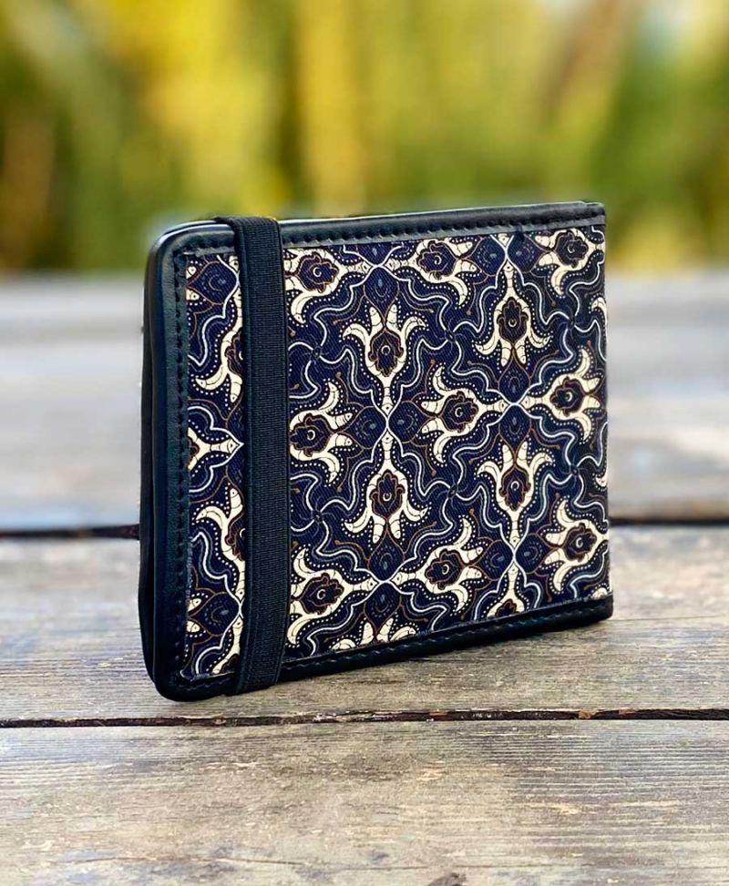 Psychedelic men wallet bifold canvas slim wallet hamsa
