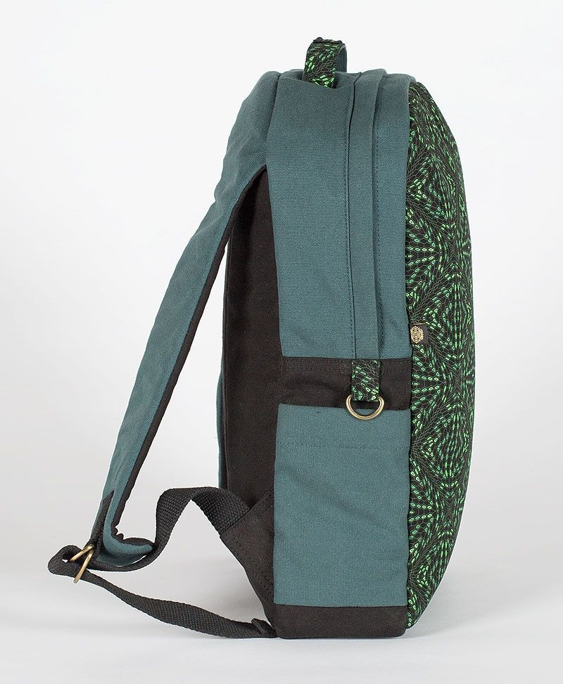 hexagon-round-canvas-backpack-laptop-bag