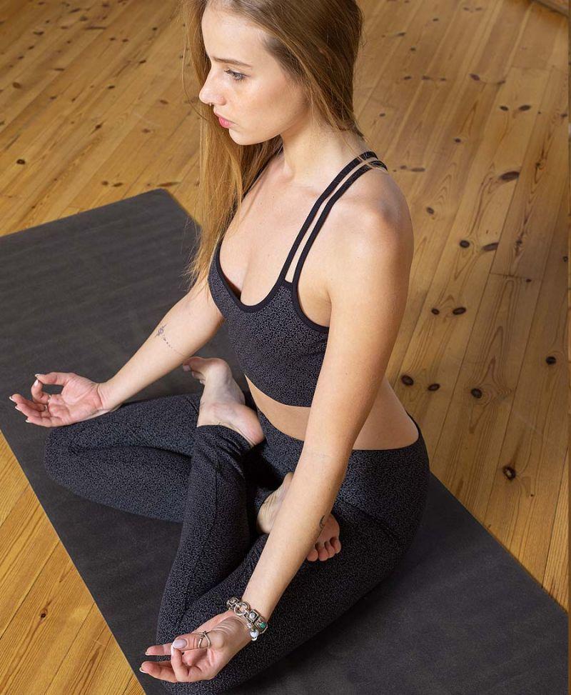 black yoga bra top festival bralette