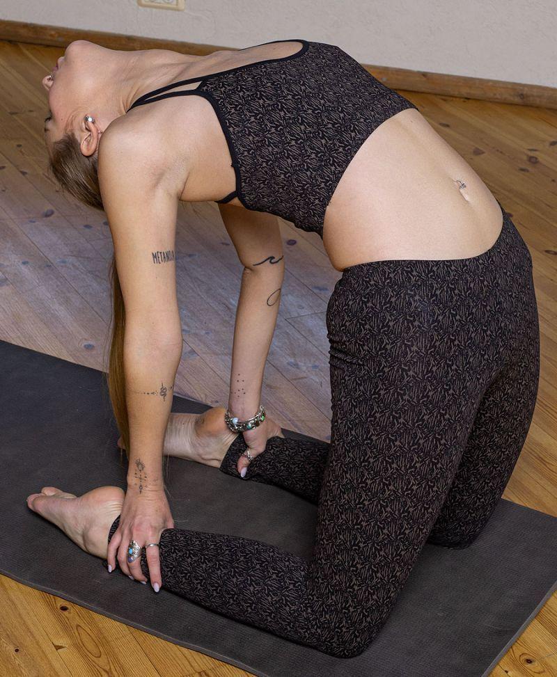 abstract print yoga bra top festival bralette