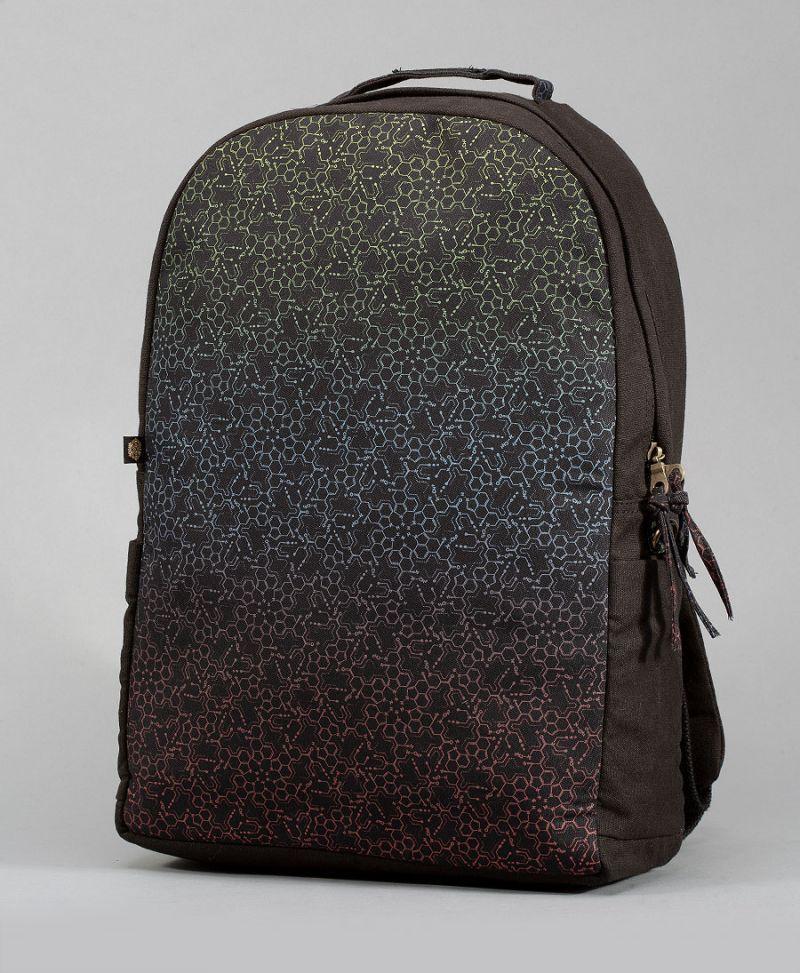 lsd molecule psychedelic backpack for laptop
