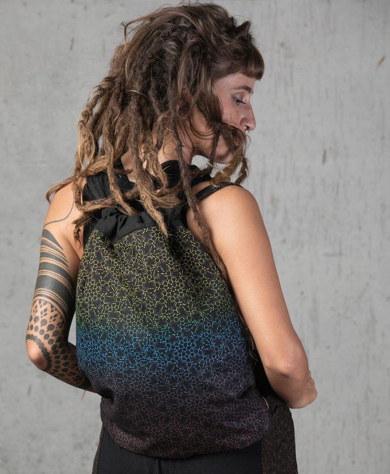 lsd molecule psychedelic drawstring backpack