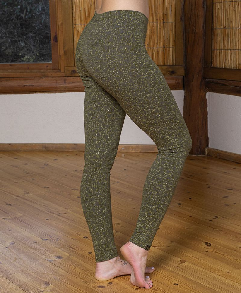 psychedelic women leggings yoga cotton tights