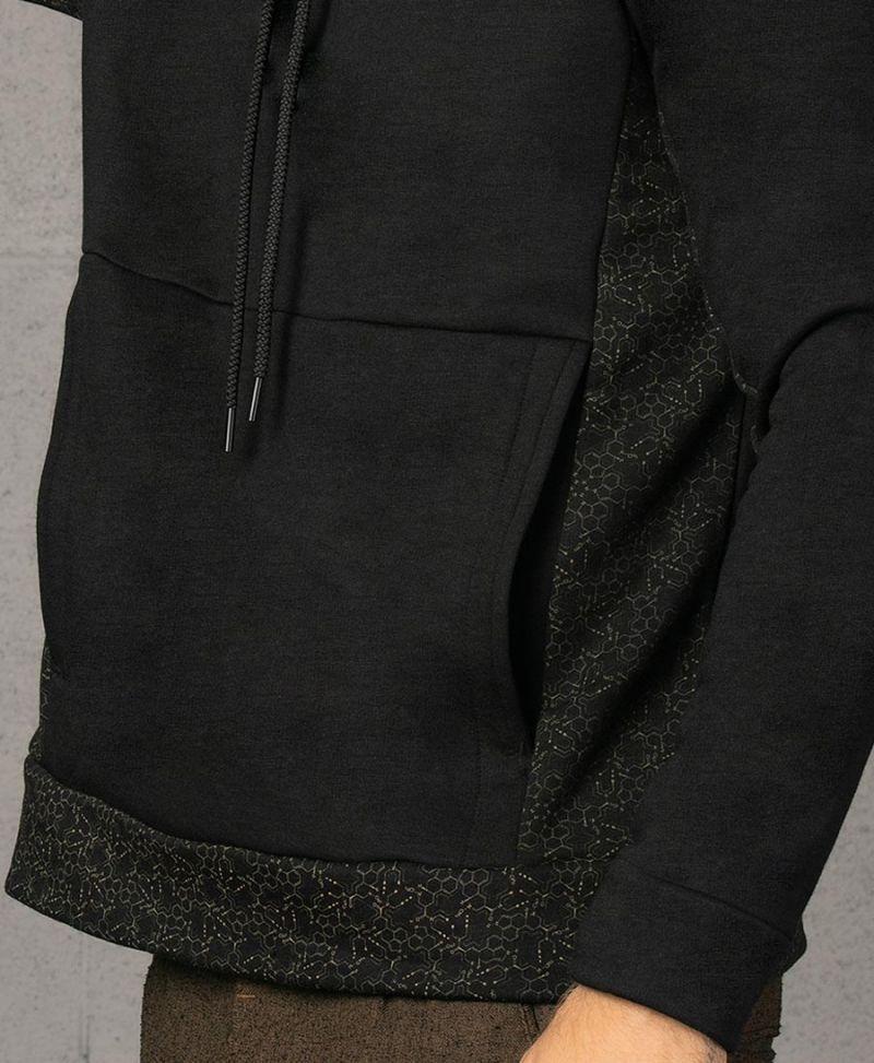 LSD Molecule black pullover hoodie sweatshirt psychedelic men clothing
