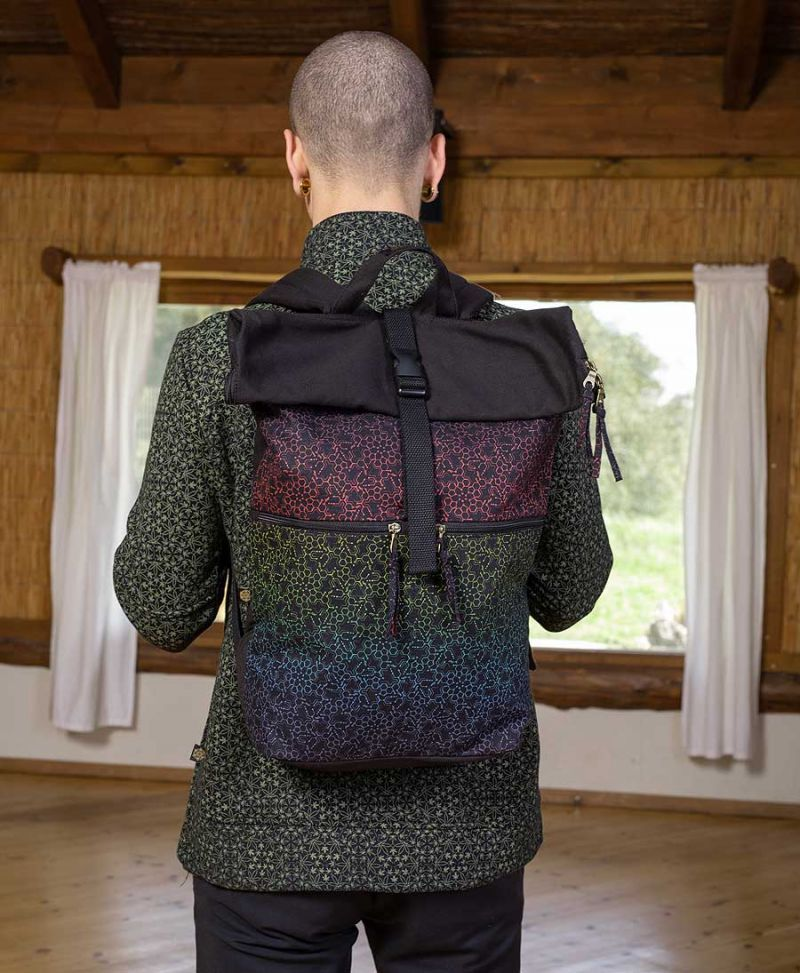 large roll top backpack psychedelic bag for travel