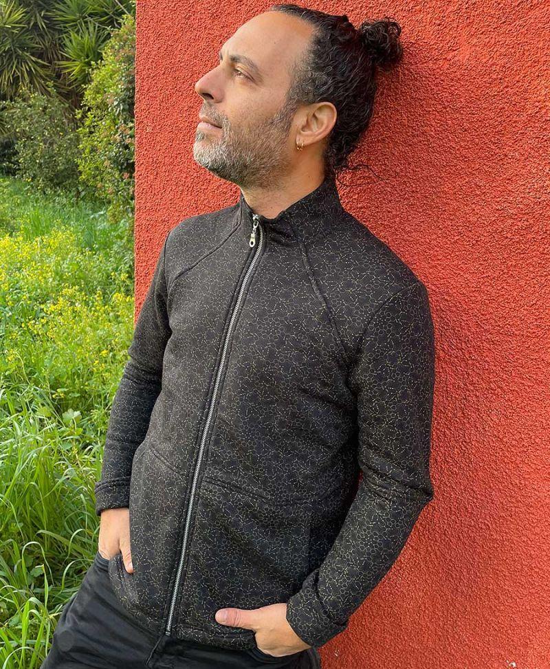 lsd molecule zip up men jacket full print psychedelic wear