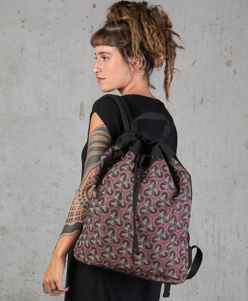 magic mushroom drawstring backpack