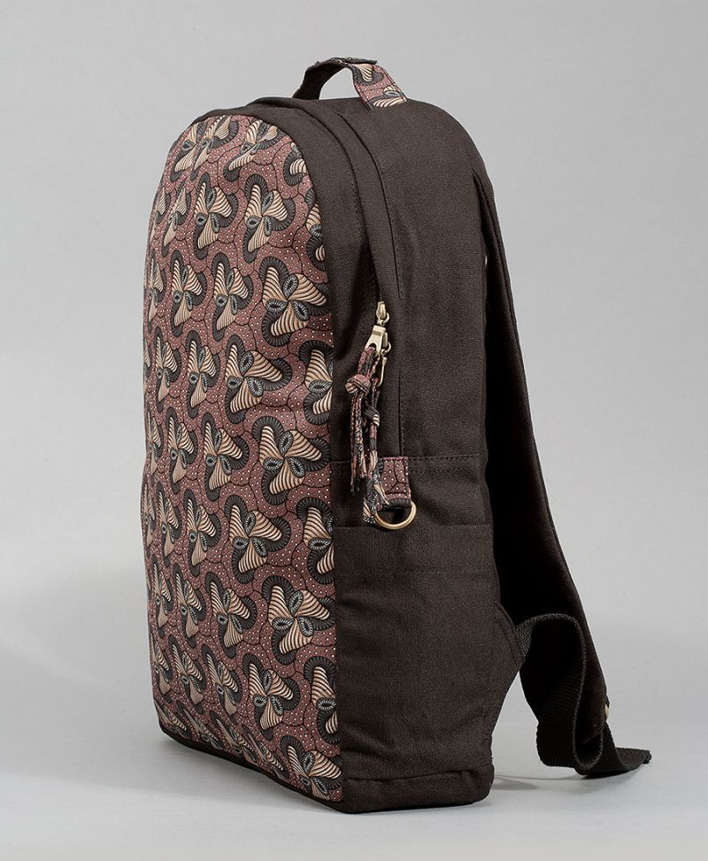 magic mushrooms backpack for laptop round canvas bag