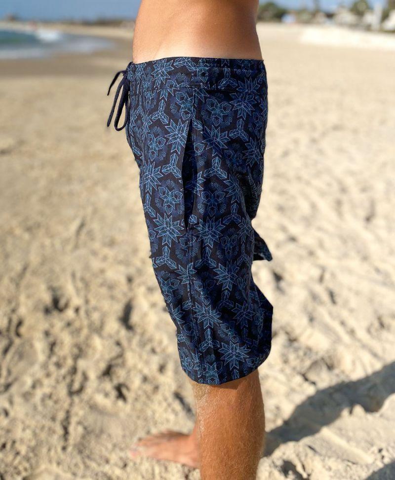 Festival Board Shorts For Men Psychedelic Swimwear