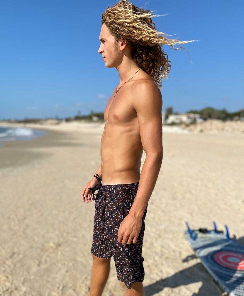tribal print men board shorts swimwear