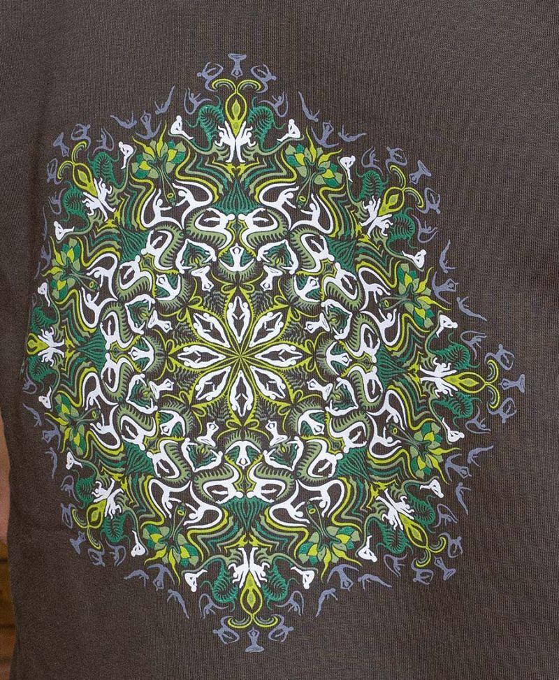 mandala hood vest psychedelic clothing glow in the dark