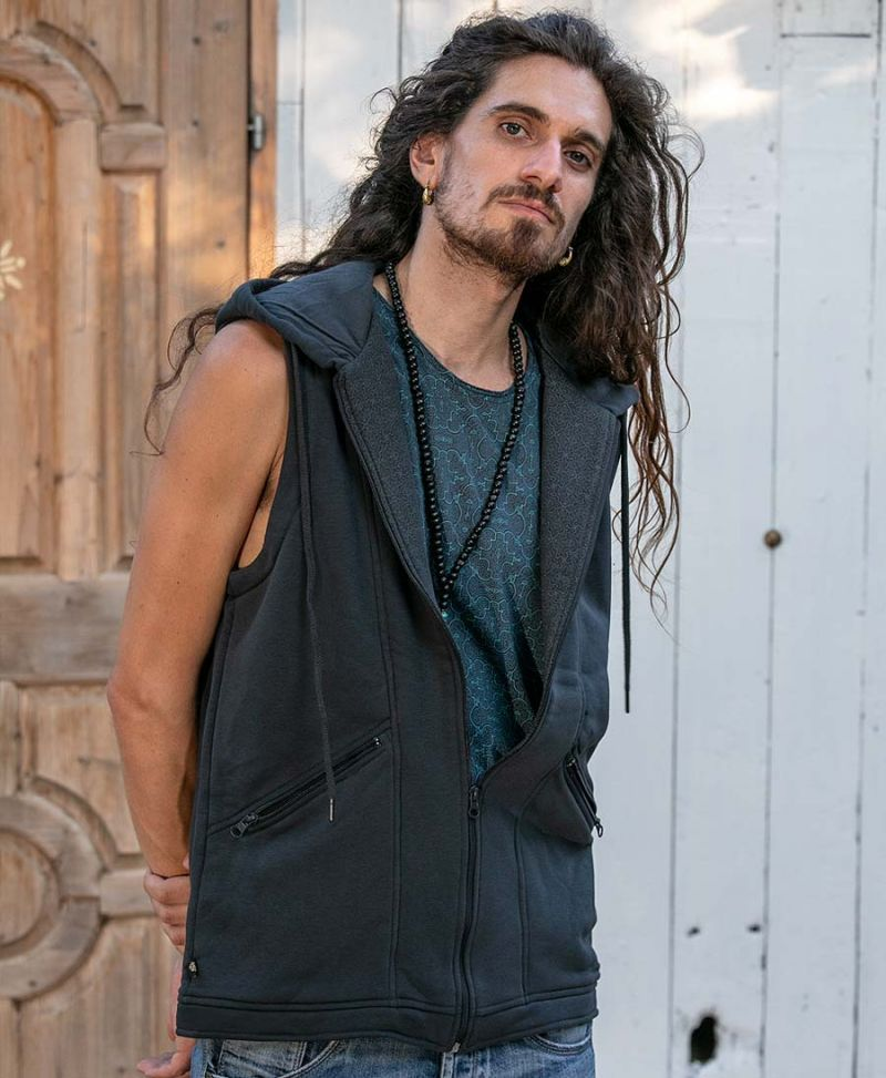 psytrance clothes psychedelic vest for men