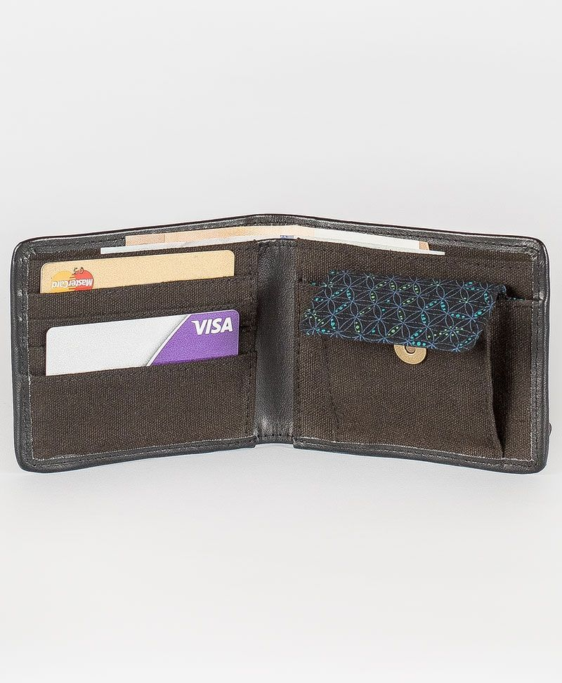 seed of life men wallet canvas
