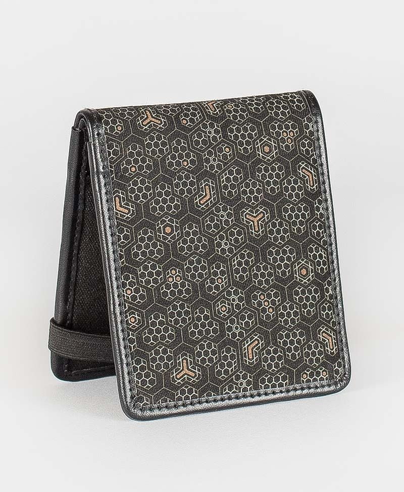 bee hive mens wallet canvas bifold slim wallet