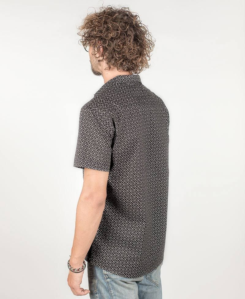 psy-clothing-men-button-down-black-short-sleeve-shirt-button-up