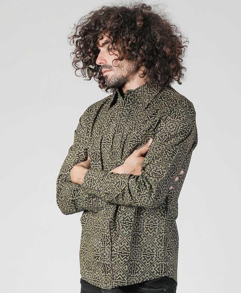 spy-clothing-men-button-down-shirt-long-sleeve-geometric-hexagon