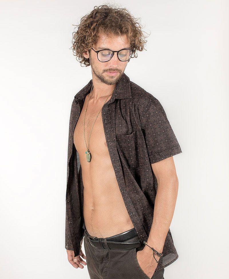 psy-clothing-men-button-down-short-sleeve-black-shirt-hamsa