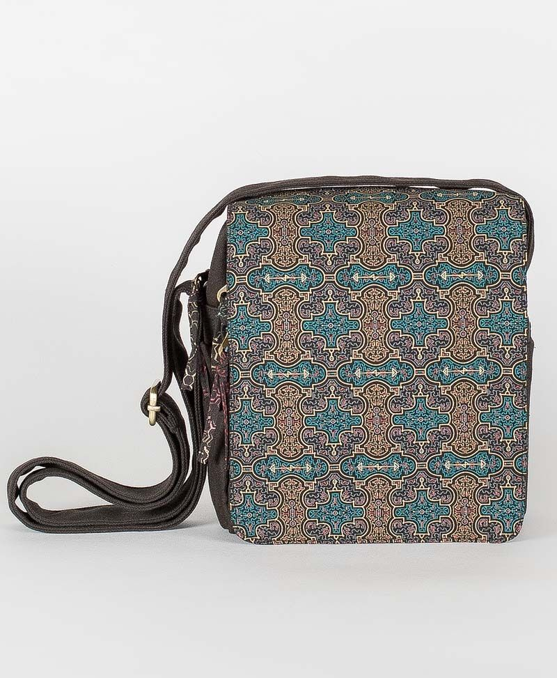 psy trance festival bag crossbody canvas sacred geometry shipibo