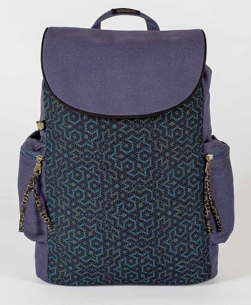 psy trance canvas laptop backpack sacred geometry seed of life