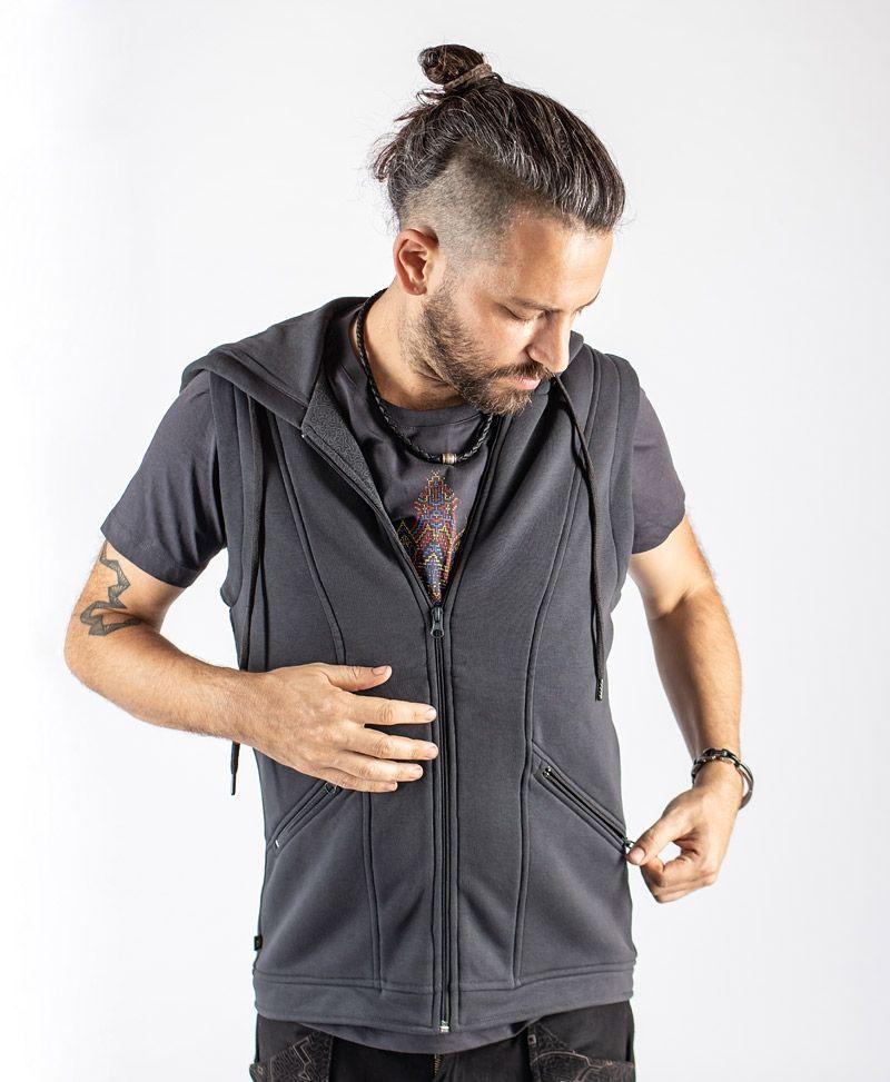 psy-trance-clothing-men-ves-hooded-grey-cotton-mandala-print-huichol