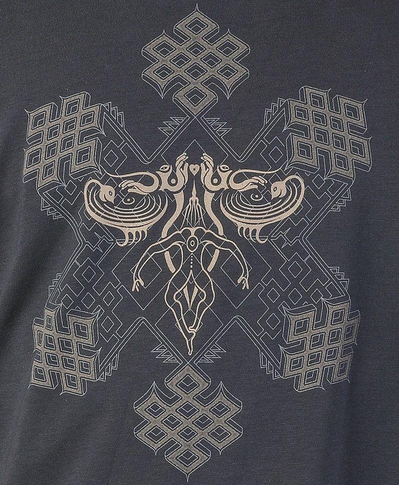 psy trance sacred geometry clothing men t shirt grey