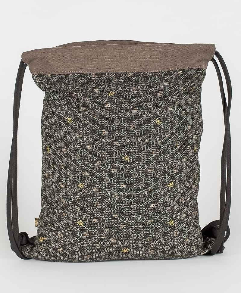 Psy Trance Festival Drawstring Backpack Sack Bag Canvas Bee Hive