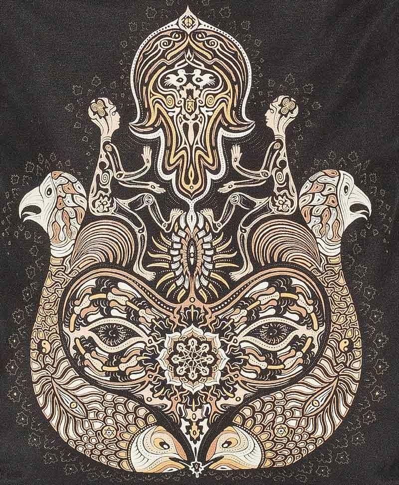 drawstring-backpack-festival-canvas-bag-hamsa-brown-black