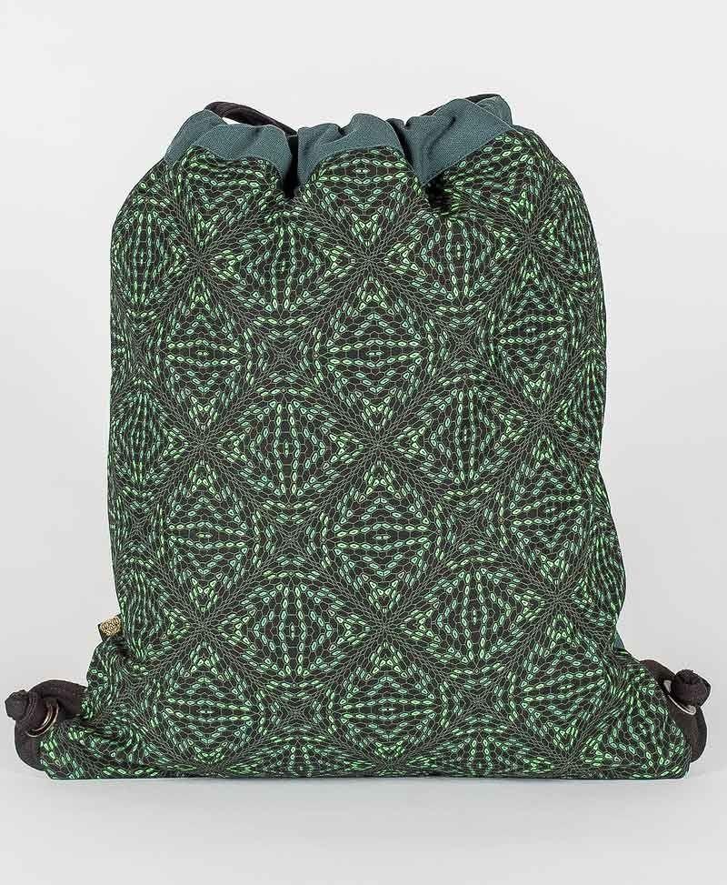 Psy Trance Festival Drawstring Backpack Sack Bag Canvas Psychedelic