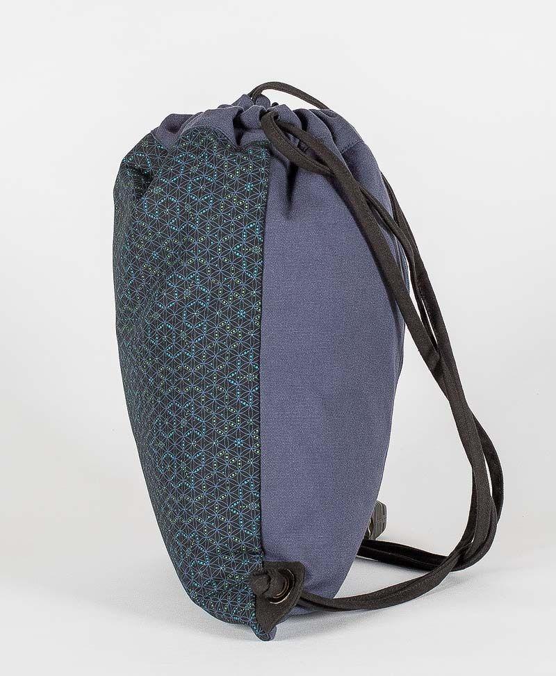 Psy Trance Festival Drawstring Backpack Sack Bag Canvas Seed Of Life