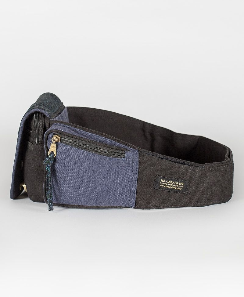 psy trance festival fanny pack utility belt canvas seed of life