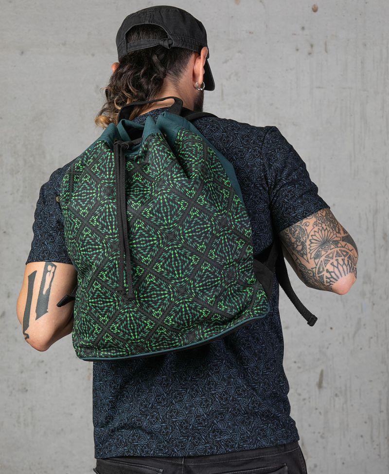 psy trance festival drawstring backpack canvas sack bag psychedelic gift