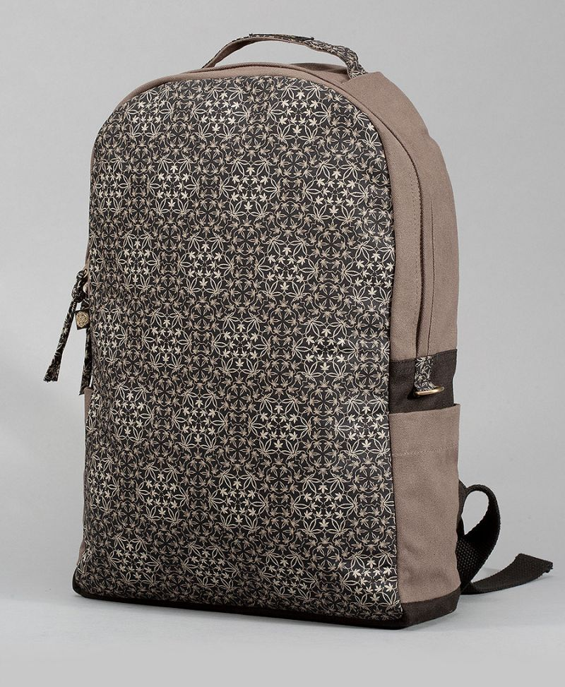 psychedelic backpack canvas laptop bag trippy gift