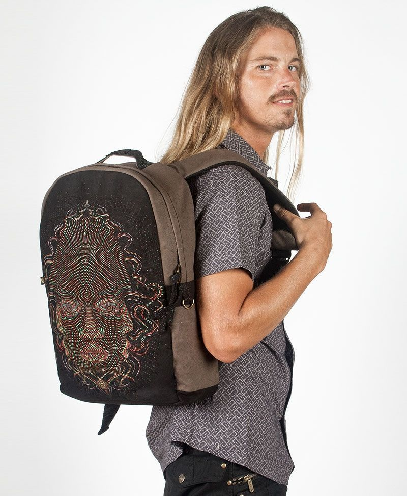 psychedelic-bag-round-canvas-laptop-backpack