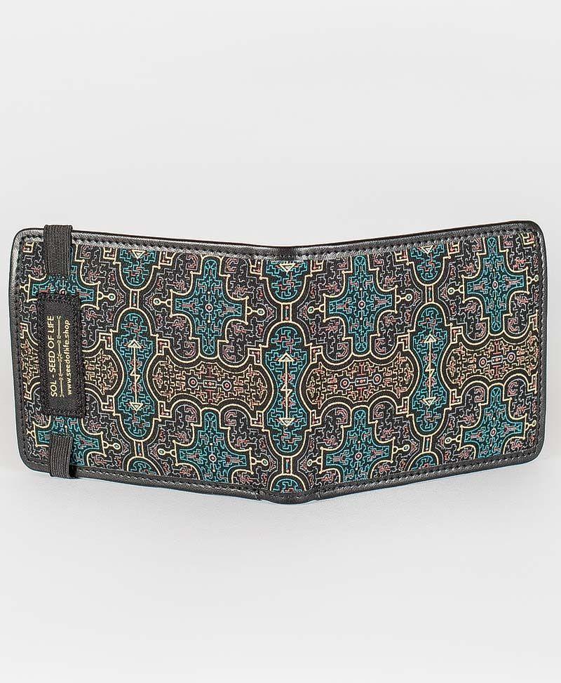 shipibo mens wallet canvas bifold slim wallet