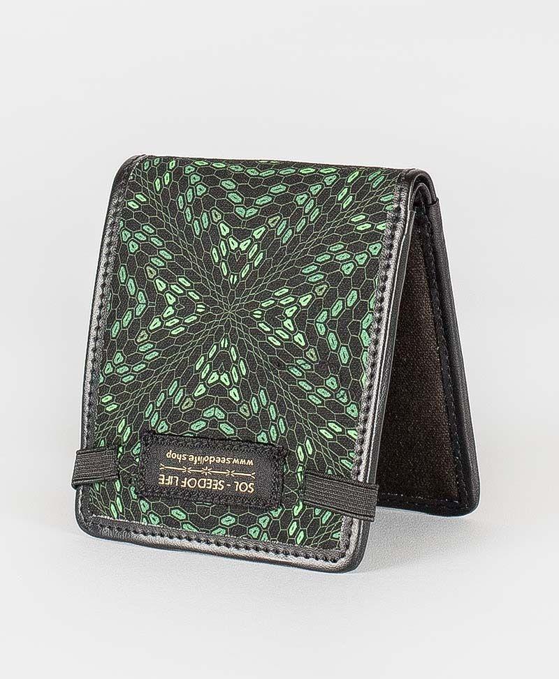 psychedelic mens wallet bifold vegan canvas