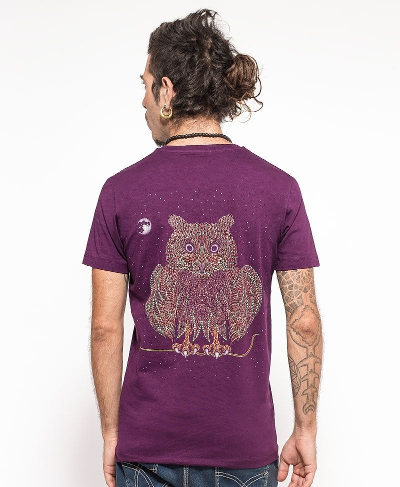 psychedelic clothing men t shirt owl