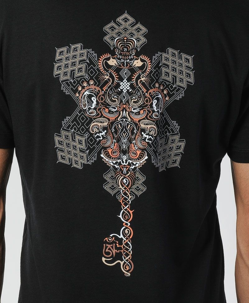 psy trance sacred geometry clothing men t shirt black