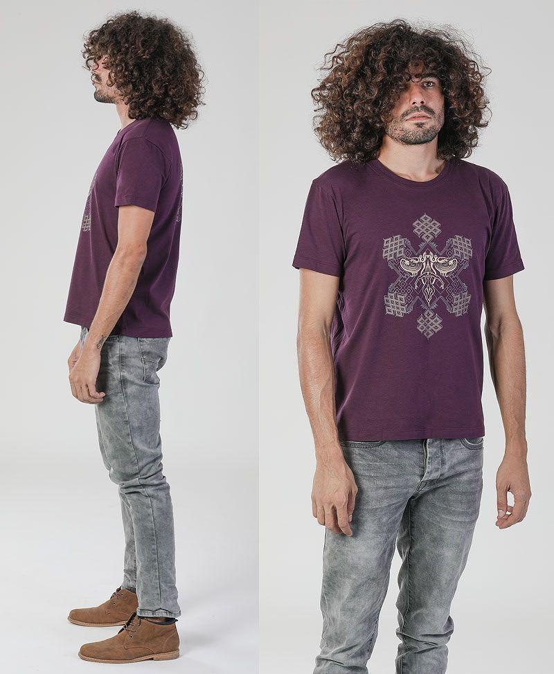 psy trance sacred geometry clothing men t-shirt